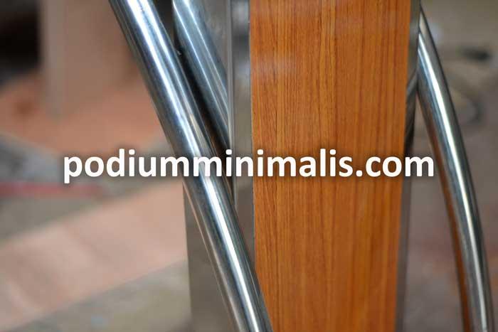 podium minimalis stainless 2
