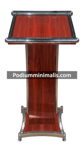 Podium Minimalis Kayu dan Logam, sumber Podium Minimalis